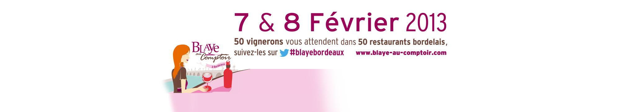 Blaye au comptoir de Bordeaux